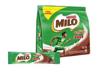 milo 3 in 1 instant chocolate malt drink 20 sachets