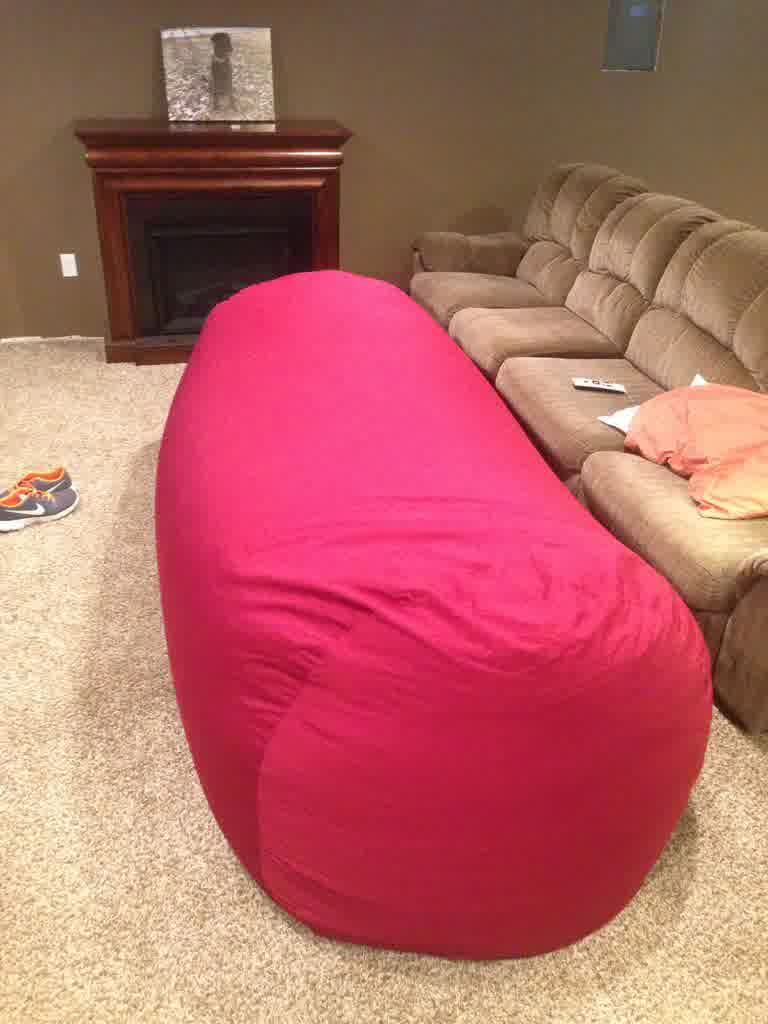 long-pink-bean-bag-couch-set-above-quality-rug-front-brown-cozy-sofa